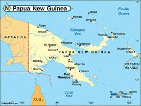 New Guinea On World Map by Papua New Guinea Map World
