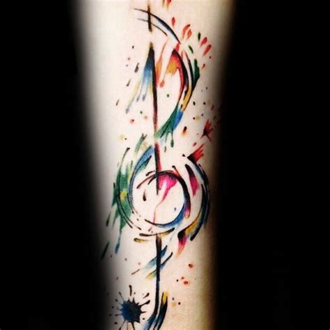 watercolor tattoo music 75 note tattoos for auditory ink design ideas