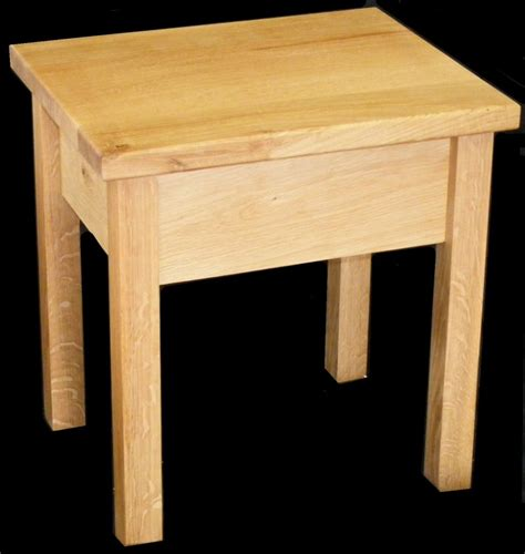 Handmade Side Table - handmade solid oak side end table