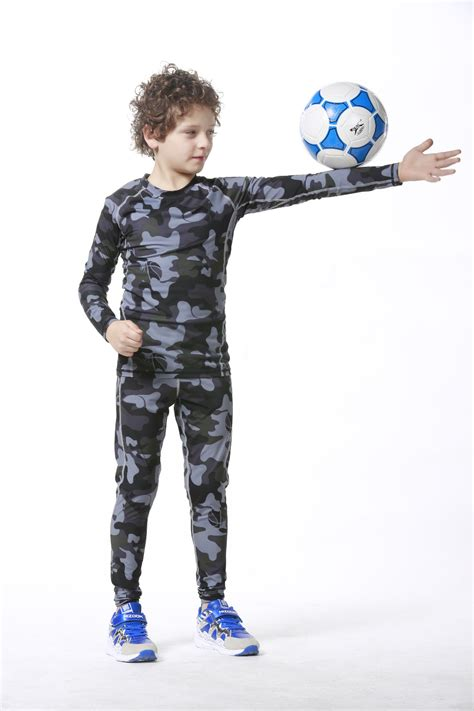 New S Camo Cycling Tops Compression Sleeve T Shirt Sport camo compression base layer gear running tights shirts boys bodybuilding tops children