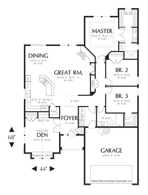 mascord house plan 1103ba the granville