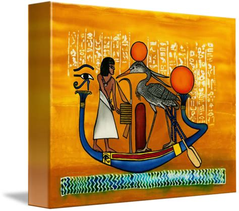 egyptian soul boat egyptian boat quot soul traveling quot silk painting by savanna redman