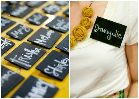 diy chalkboard name tags 17 best images about name badge ideas on name