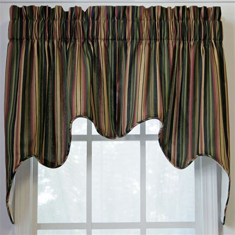 Lined Kitchen Curtains Montego Empress 2pc Swag Lined Black Green Ellis Kitchen Valances