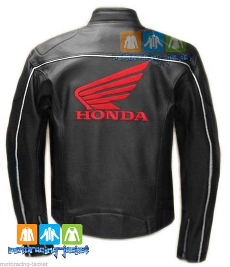 bike driving jacket honda wing black motorbike motorcycle racing leather