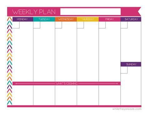free colorful printable weekly planner free printable weekly planner planners bullet journals