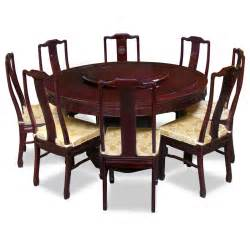 8 Chairs Dining Table 60in Rosewood Longevity Design Dining Table With 8 Chairs