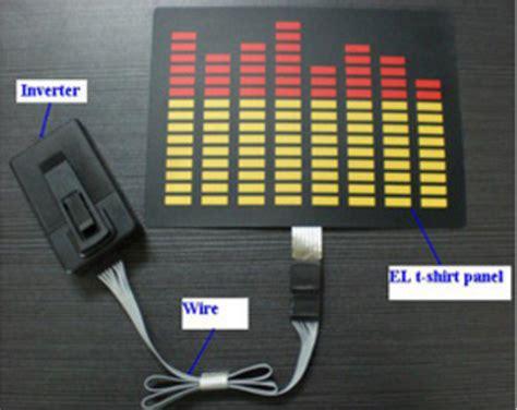 electro luminescent el panel animated  sound led  shirts flashing light  glow wholesale