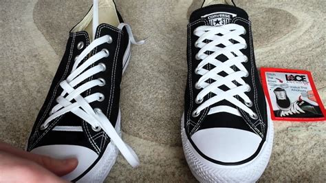how to bar lace converse high tops how to diamond lace shoes youtube