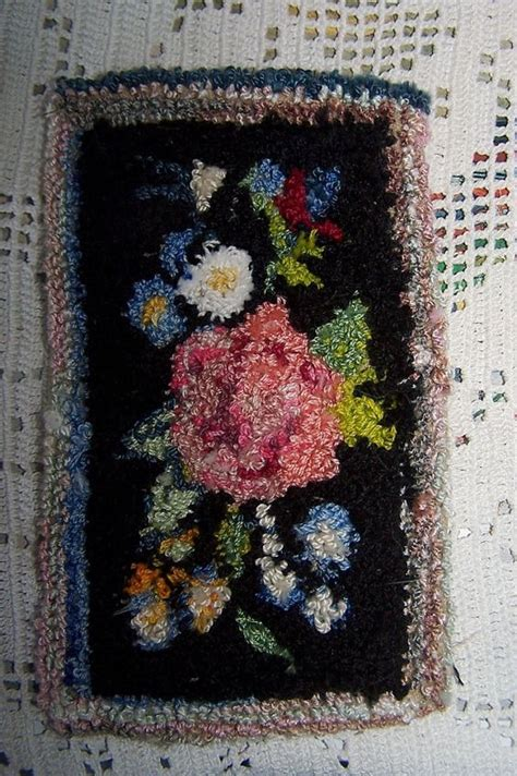 punch rug small punch needle rug for hitty doll punch rugs and punch needle