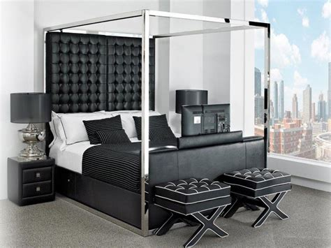 Bed Frame With Tv In Footboard by Size Bed With Headboard And Footboard Gallery Of