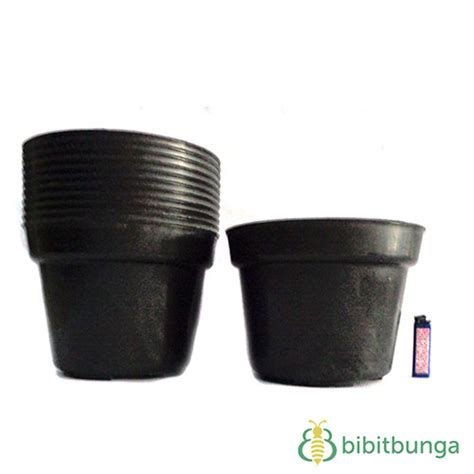 Plastik Hitam Pot Plastik Hitam 216 25 Cm 12 Pcs Bibitbunga
