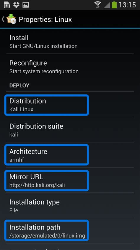 kali linux android kali linux on android using linux deploy kali linux