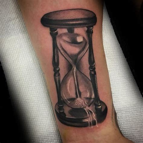 sand timer tattoo 30 broken hourglass designs for time ink ideas