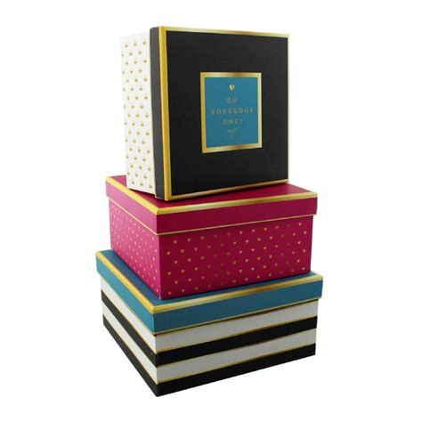 Decorative Storage Containers by Decorative Storage Boxes Set Of Three Office And Home