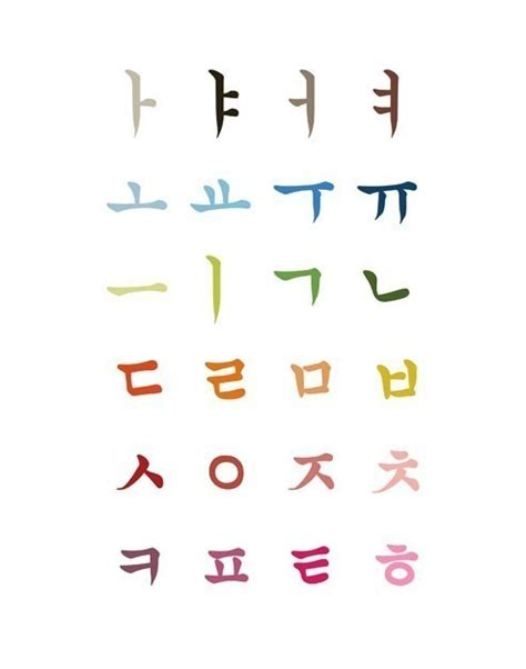 Letter Korean Korean Alphabet