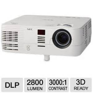 Proyektor Nec Ve281 Nec Ve281 Svga Dlp Mobile Projector 2800 Ansi Lumens 800 X 600 3000 1 Vga 7 Watt Speaker