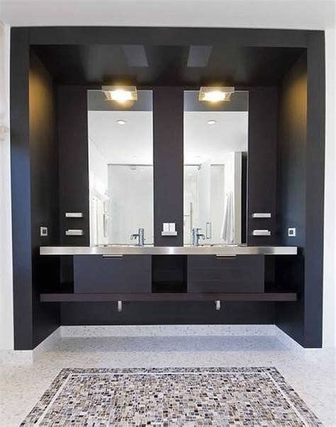 Minimalist Vanity by Contemporary Bathroom With Minimalist Vanity Decoist