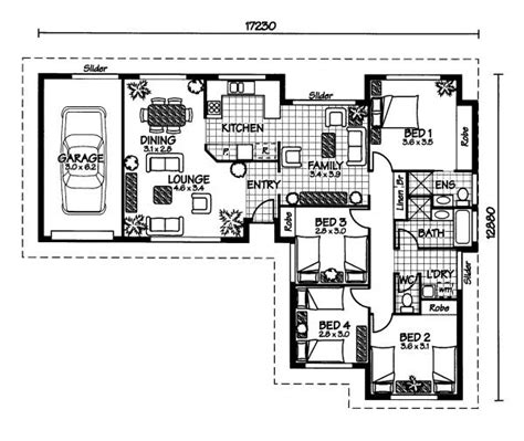 australian home plans floor plans the musgrave 171 australian house plans