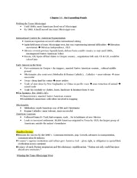 Chapter 10 Apush Outline by Ap Us History Course