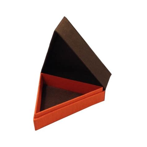 Triangle Box Silk Jewellery Box Luxury Wedding Invitations Handmade
