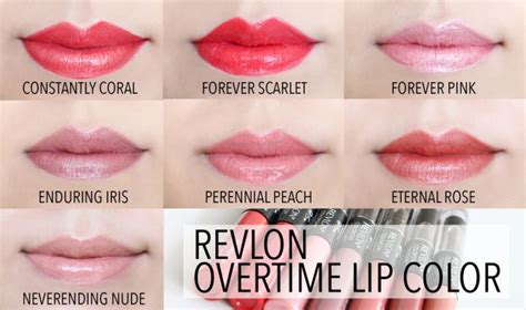 Revlon Colorstay Overtime revlon colorstay overtime lip color lip swatches in