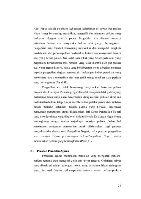 Lembaga Pengadilan 1 peranan lembaga peradilan dalam pelaksanaan kekuasaan kehakiman di in