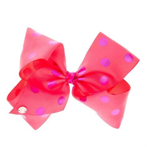 Jojo Siwa Bow By Timorashop jojo siwa large pink purple polka dot hair bow s