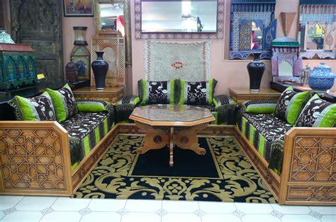 salon canapé marocain salon marocain moderne enbois