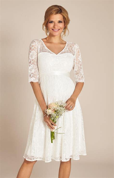 Hochzeitskleider Kurz by Flossie Umstands Hochzeitskleid Kurz Elfenbein