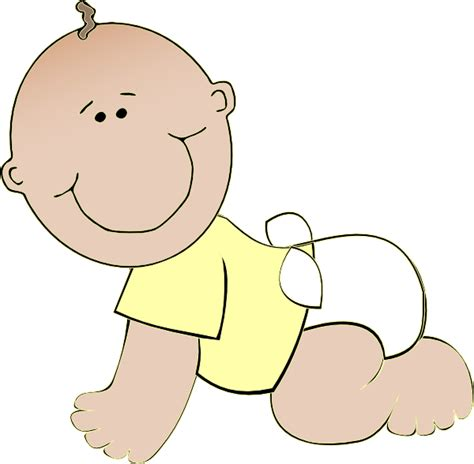 clipart baby neutral baby crawling clip at clker vector clip