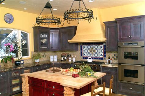 mexican kitchen decor with red cabinet paint decolover net spanish kitchen