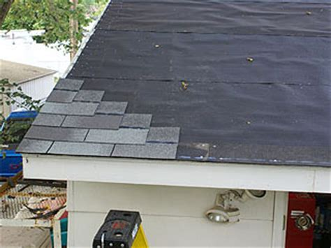 How To Reshingle A Garage Roof by 3 Tab Shingle Roofing Installation Letitbitportland