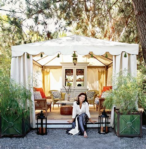 tent backyard italian canvas tent veranda decorated in different styles