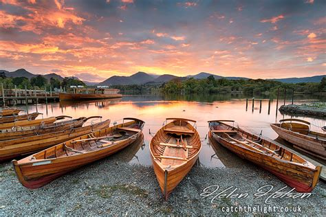 lake district boat house boats on derwentwater professional landscape photography