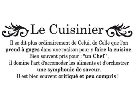 la cuisine definition le cuisinier atmosph 232 re citation
