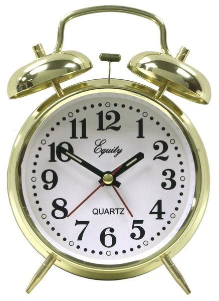 equity  analog keywind loud twin bell alarm clock