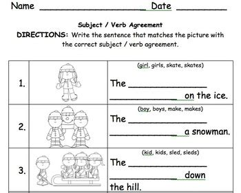 pattern of subject verb agreement all worksheets 187 making subjects and verbs agree
