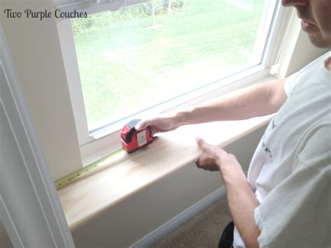 Cutting Window Sill How To Replace An Interior Window Sill Two Purple Couches