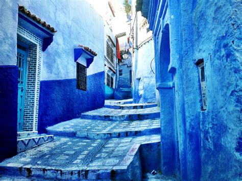 blue city morocco chair the blues of chefchaouen