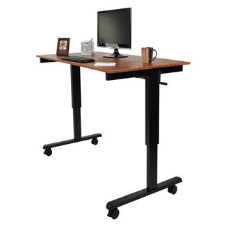 sit and stand up desk sit and stand up adjustable height crank desk