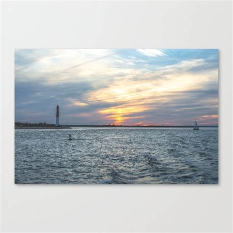 boat canvas long beach sunset at long beach island canvas print by