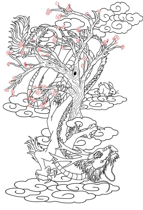 chinese cherry blossom tattoo designs design and hare by kitiharumi on
