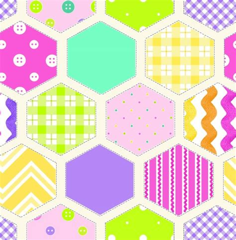 Beautiful Quilt Fabric by Flannel Fabric Hg Ricrac Paddywack Hexagon Baby 5433