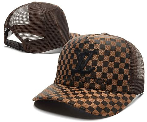 louis vuitton peaked caps check canvas mesh baseball caps lv caps brown 015 only us 8 90