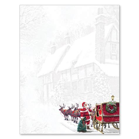 christmas themed paper santa s sleigh christmas holiday paper your paper stop