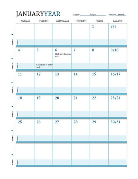 teacher monthly planning calendar template lesson plan calendar office templates