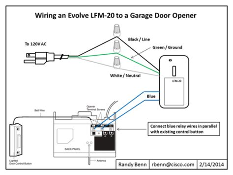 Garage Door Opener Wire Wiring Diagram Garage Door Opener Smart Home Diy