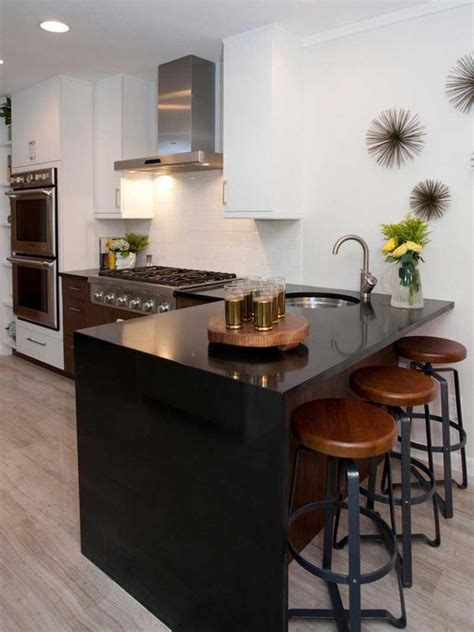 Breakfast Bar Countertop Ideas by 32 Trendy And Chic Waterfall Countertop Ideas Digsdigs