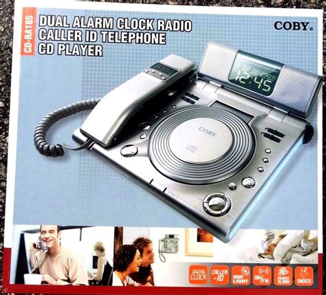 coby dual alarm clock radio caller id telephone cd player ebay